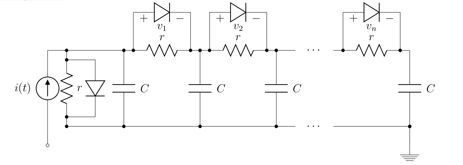 Non Linear Transmission Line Circuits Theory Of Hybrid Systems A Circuit Is The Composed